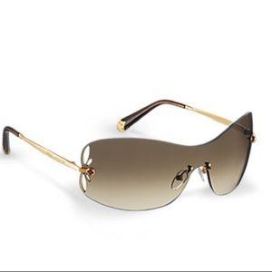 Auth Louis Vuitton lily mask women's sunglasses
